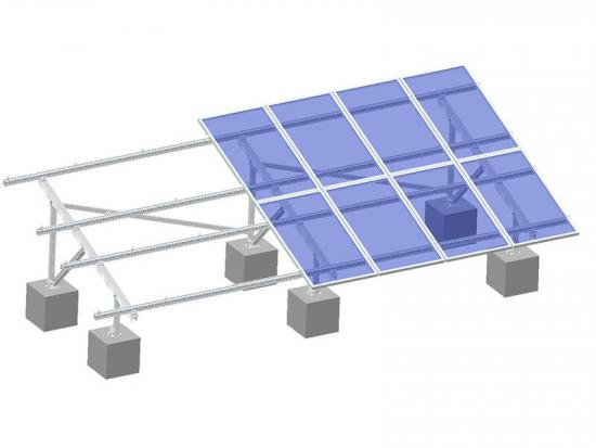 Solar mounting system for ground