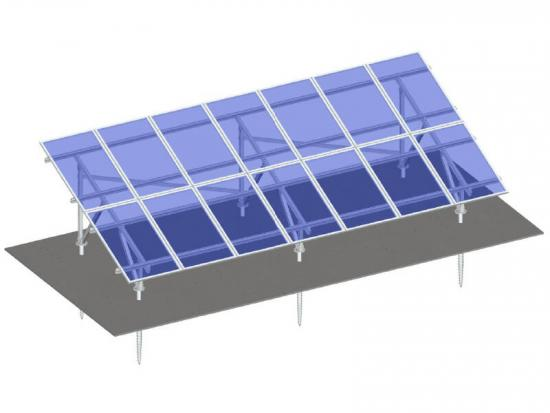 Aluminum solar panels ground mounting system