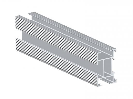 Aluminum solar panel rails