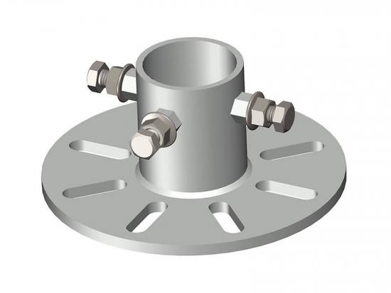 solar ground mount steel flange pipe cap